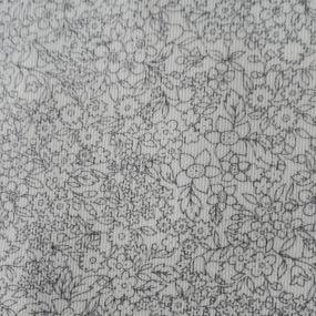PIQUE FLOR GRIS