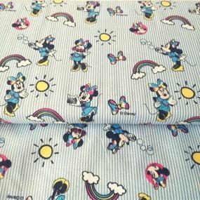 Minnie rayas azules