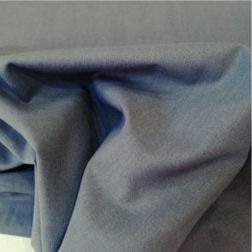 Algodón liso gris melange