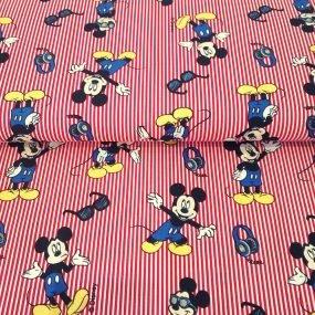 Mickey rayas rojas