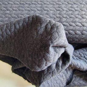 Sudadera gris espiga
