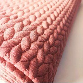 Sudadera rosa espiga
