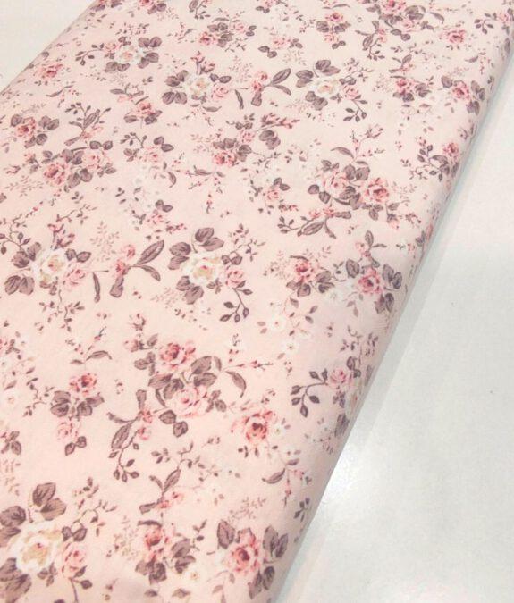 Viella rosa flores rosas y verdes