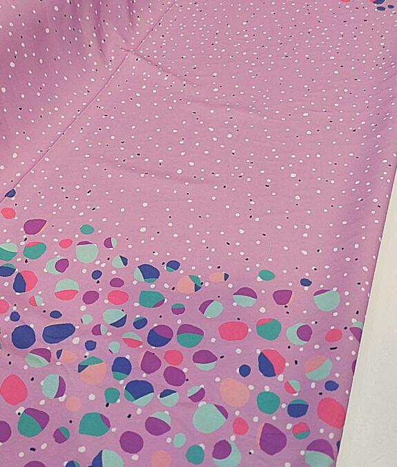 Crep lila topos multicolor