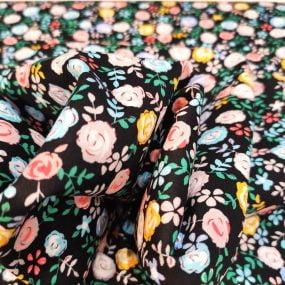 popelin fondo negro flores colores (2)