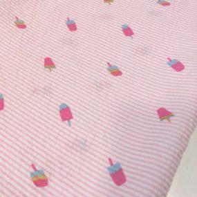 seersucker raya rosa helados